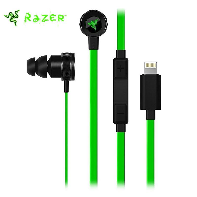 цена на Original Razer Hammerhead iOS In-Ear Earphone with In-Line Remote Mic Light Port for iPod /iPad Mini/iPad Pro/ iPad Air/iPhone