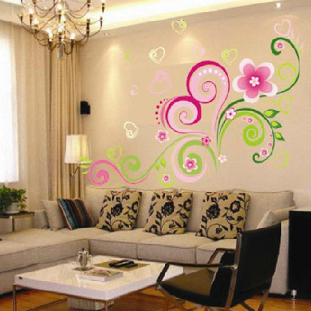 Multicolor DIY Wall Mural Decal Wall Stickers Flowers Home Office ...