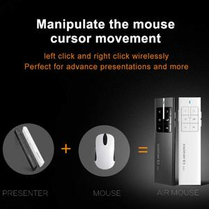 Image 3 - Knorvay N89 Wiederaufladbare Wireless Presenter Laserpointer Air Mouse Presenter 2,4 GHz PPT USB Fernbedienung