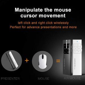Image 3 - Mando Inalámbrico Recargable puntero láser inalámbrico presentador Air Mouse presentador 2,4 GHz PPT Control remoto USB para múltiples dispositivos de medios