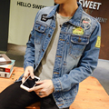 2017 Autum New Fashion Denim Jacket Men Slim Straight Distroyed Outwear Casual Jeans Men Jacket S-5XL hot sale