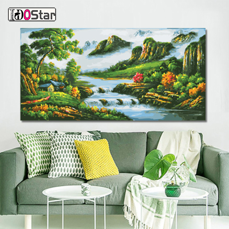 60x120cm Large Size Frame landscape DIY Painting By Numbers Acrylic Paint On Canvas Modern Wall Art Picture Home Decors
