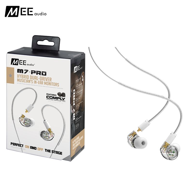 Authentic MEE audio M7 PRO Universal-Fit Hybrid Dual-Driver Musician's In-Ear Monitors With Detachable Cables for Iphone Huawei m audio keyrig 49 в москве