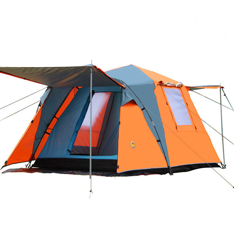 215*215*165cm Two Bedroom Camping Tents Waterproof Automatic Tents Beach Tent Family Picnic Fishing Hiking Traveling Tent otomatik çadır