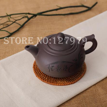 Purple clay teapot yixing clay pot capacity about 450ml chinese kung fu teaset pottery puer oolong teapot