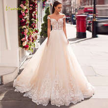 Loverxu Sexy Wedding Dress 2019 Sweep Train Bride Dress