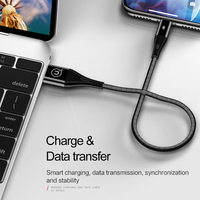 USAMS USB Cable for Lighting Cable for iPhone Cable 2m 2.4A fast charging Data Cable for iPhone 12 11 Pro 7 8 X 6 6s plus 5 SE 5S charger