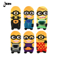 Cute Minions Printing Meias Women Short Socks 6 Color Lovely Cartoon Summer Sock For Lady