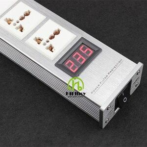 Image 4 - Nieuwe Patroon Led Hoge Kwaliteit Geavanceerde Audio Vermogen Purifier Filter Ac Power Socket Universele Macht Filter