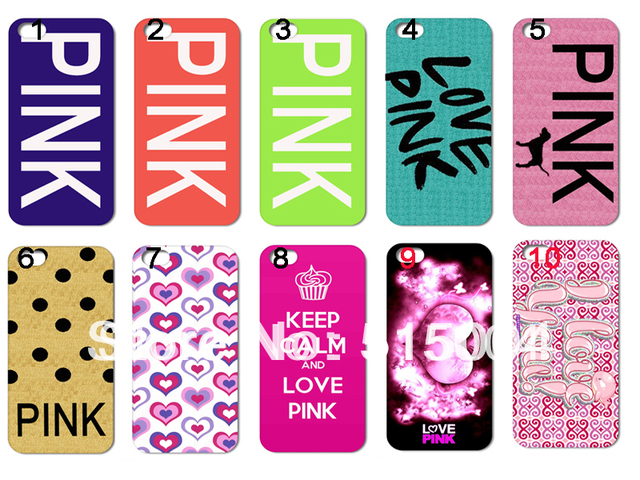 New Design LOVE PINK Case Hard Back Cover For Iphone 4 4s 4g 10PCS/lot+free Shipping
