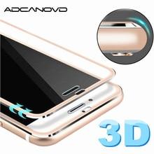Borda curvada 3d vidro temperado para iphone 7 7 6s 8 mais cobertura completa de vidro protetor de tela para iphone x 5S se filme