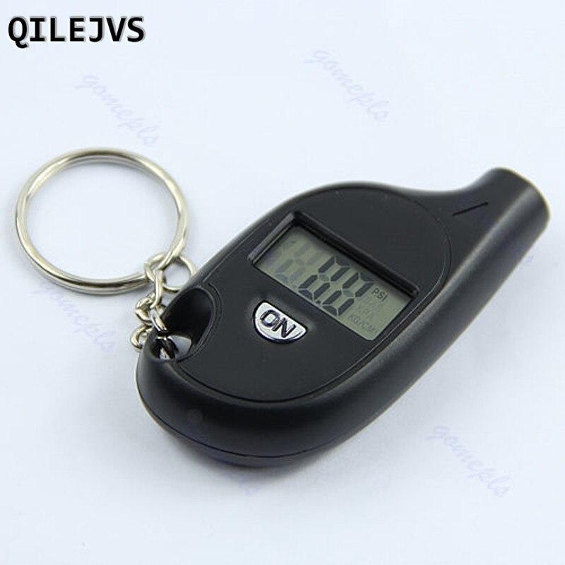 QILEJVS мини Прикладная брелок ЖК-дисплей цифровой шины воздуха Давление манометр для автомобилей Мотоцикл Горячая #1