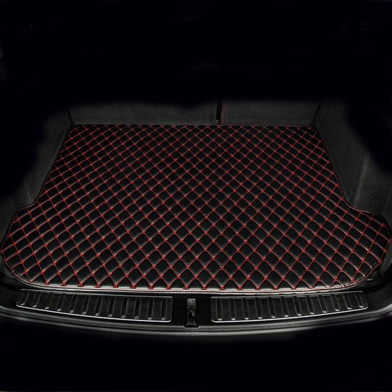 Tapis de coffre de voiture sur mesure pour Hyundai Verna Accent Solaris 5D tapis de sol résistants tous temps (2006-)