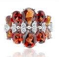 Природный, гранат природный кольцо В ювелирные изделия гранат Природный кольца стерлингового серебра 925 0.25ct * 4 шт., 0.4ct * 4 шт., 1ct * 2 шт. самоцветы #15120504