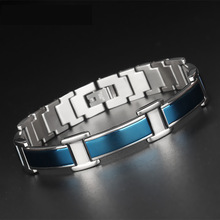 Female Charm bracelet Germanium Link Chain Health Magnetic Bracelet For Women Bio Energy Jewelry for Arthritis nano bio energy health card and bio energy card pvc plastic anti radiation card supply