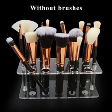 New Square Drying Rack Stand for Cosmetic Brush Shelf Tools Makeup Brushes Holder Acrylic Air Organizer 14 holes acrylic display board makeup brush holder base stand cosmetics blending brush drying rack organizer 2017 newest design