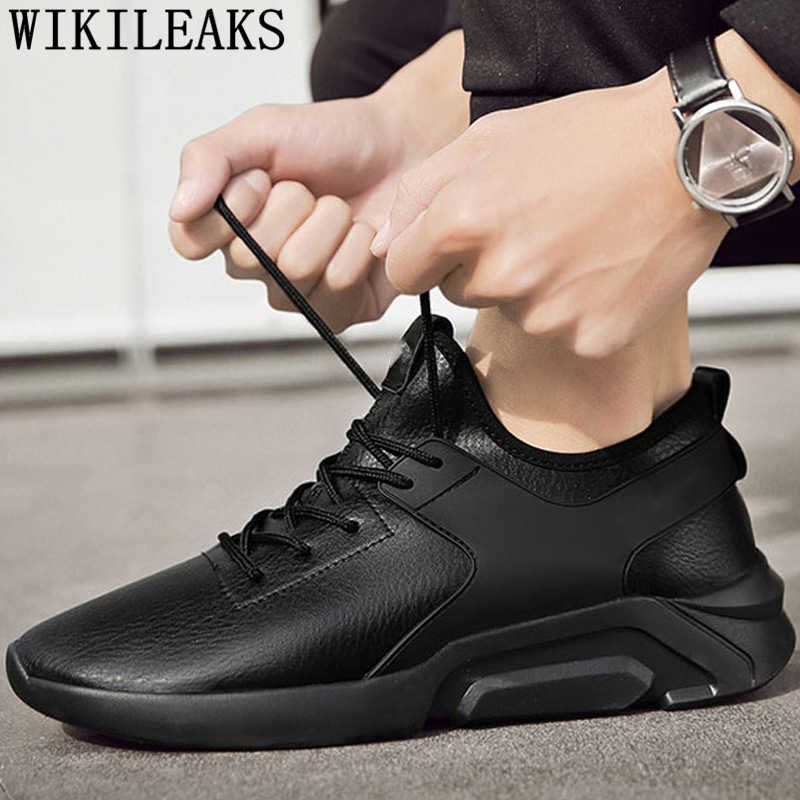Mens נעליים מזדמנים עור נעלי ספורט חורף נעלי גברים עור לבן סניקרס קצר קטיפה ספורט נעלי זכר tenis masculino