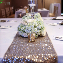 Frigg Rose Gold Sequin Table Runner Sparkly Wedding Party Silver Glitter Bling Elegant Decoration Home Decor