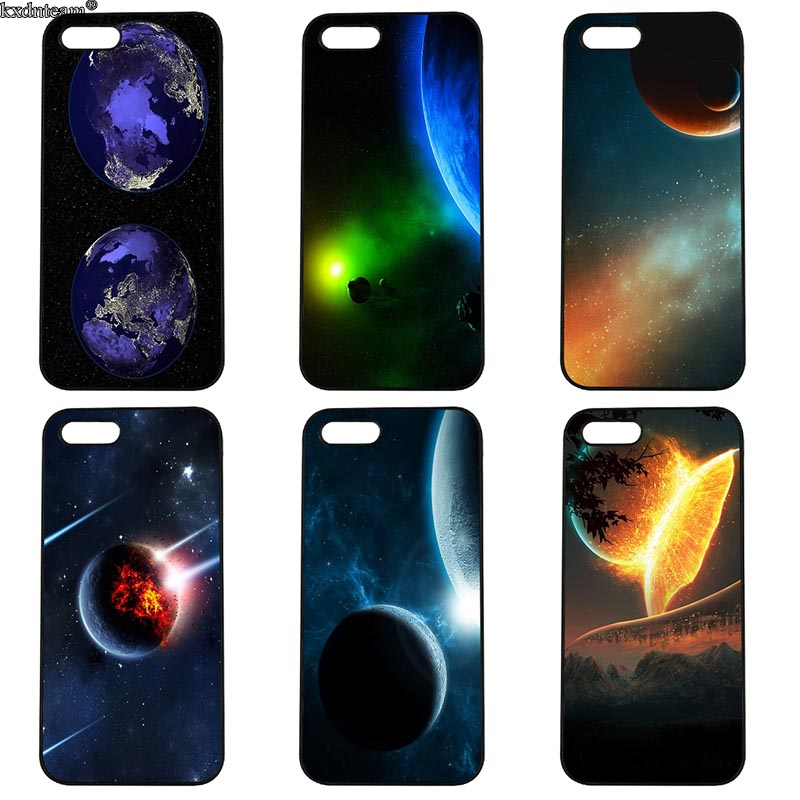 Earth and Space Planets Cell Phone Case Hard Anti-knock Cover Fitted for iphone 8 7 6 6S Plus X 5S 5C 5 SE 4 4S iPod Touch 4 5 6