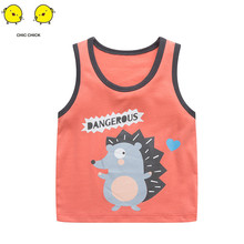 2019 Children Pure Cotton Summer Baby Clothes Newborn Infant Vest Infants T shirts  Girl Sleeveless Top
