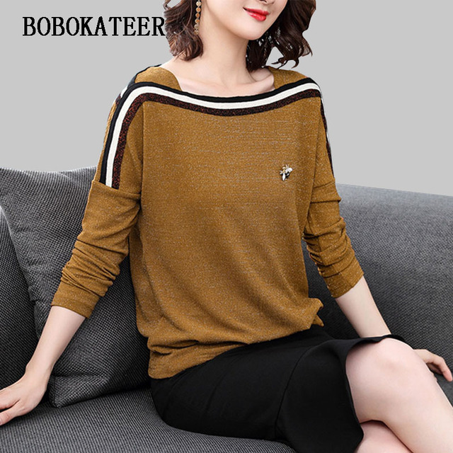 BOBOKATEER plus size women clothing blusas feminina ver o 2018 blusas casual blouse mujer women tops loose shirt women blouses