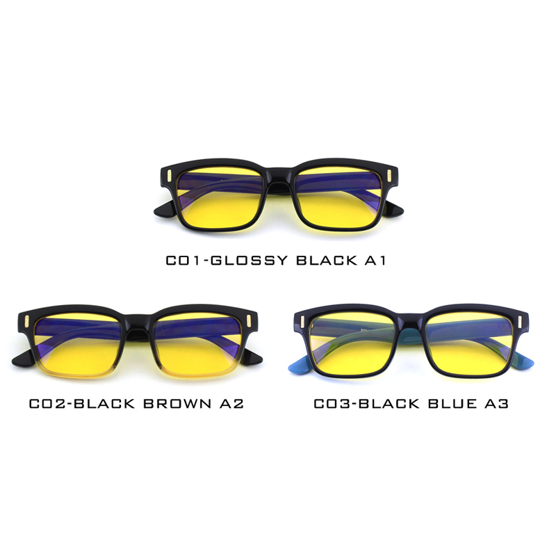 07058eba7b CGID Unisex Anti Luz Azul gafas de computadora 100% de protección UV de  protección contra la radiación marco cuadrado de la lente CY84 en De los  hombres ...
