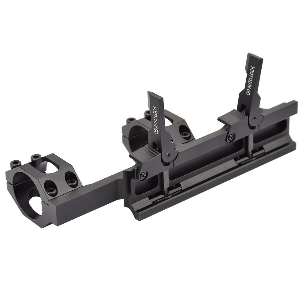 Image 5 - QD Auto Quick Release Rifle Scope Mount Rings 30mm/25mm Cantilever for 20mm Picatinny Rail Optics-in Scope Mounts & Accessories from Sports & Entertainment