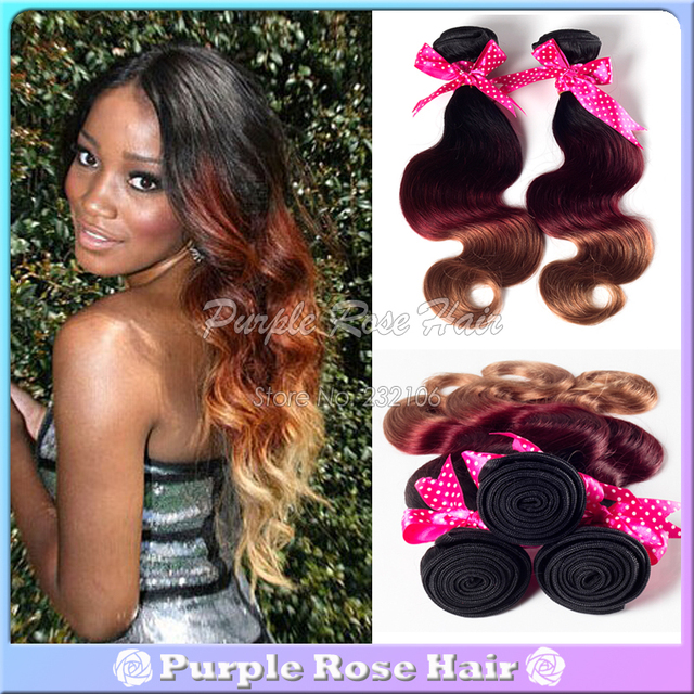 Alibaba Express 3pcs Lot Cheap Ombre Hair Weaves Body Wave Peruvian