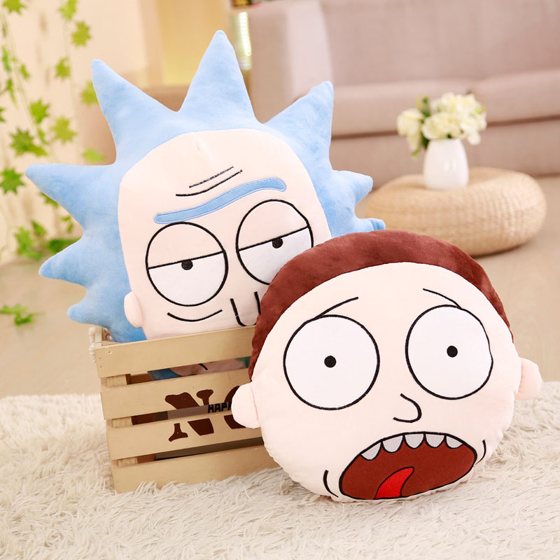 1pc 35/45cm 2 Patterns Rick and Morty Movies Around Toys Pillow Cartoon Anime Doll Cushions Marty & Dr. Real Adventure