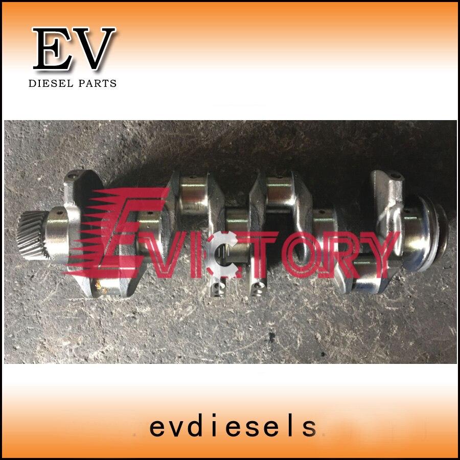 US $928 0 |Genuine forging steel crankshaft for Mitsubishi 4M51 crankshaft  Kobelco excavator engine 4M51-in Pistons, Rings, Rods & Parts from