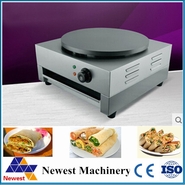 Free shipping commercial electric crepe maker/do single plate Stainless steel Plate Grill Crepe machine