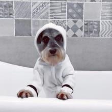 Новинка, утолщенный банный халат для животных, ночная рубашка, пижама, теплая одежда для собак, сушки щенков, супер впитывающее полотенце, для домашних животных, с капюшоном