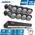 ANNKE 8CH 960H HD DVR HDMI CCTV Security System 8pcs 960P 1.3MP CCTV Security Cameras IR Outdoor Waterproof Surveillance Kits