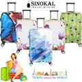 Cobre Protetores Tampa Mala de Viagem da bagagem Bagagem Poeira Engrossar Elástico Flexível Protetor Borboleta Flores Designs