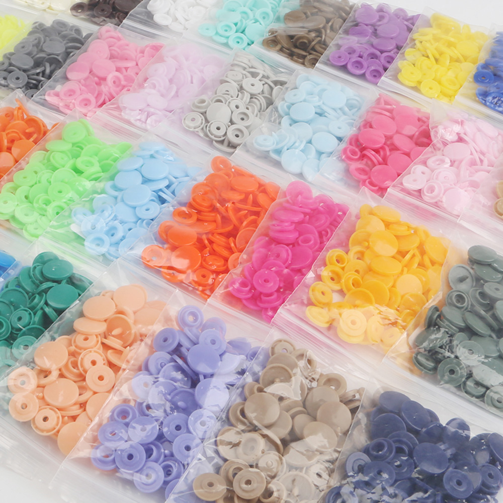 KAM T5 Plastic Snaps Button Fasteners 20/50/100/150Sets Bag Folder Dark Buckle Button Resin Garment Accessories For Baby Clothes(China)