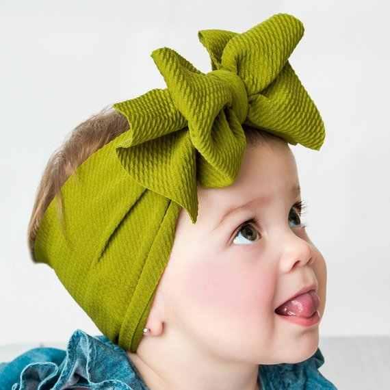 Verstelbare Grote Boog Headwrap Baby Hoofdband Top Knoop Hoofdbanden Over Sized Boog Haar Tulband Pasgeboren Head Band Girl Grote Haar bows