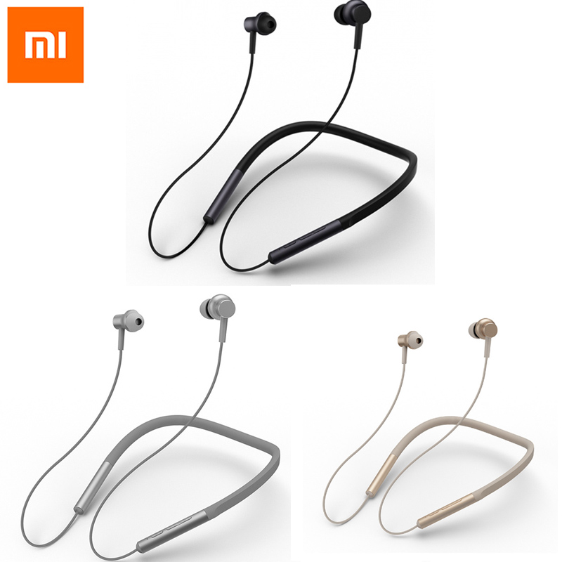 Xiaomi Bluetooth Collar Earphone Hybrid Headset Dual Driver Earphones Apt X Mi Headphone AAC Code Neckbakd