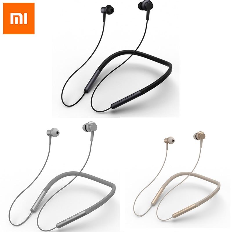 Xiaomi Neckband Handsfree Bluetooth Earphone Hybrid Headset Dual Driver Earphones Apt-X Mi Headphone Support AAC Code Headphones mi dual driver earphones black