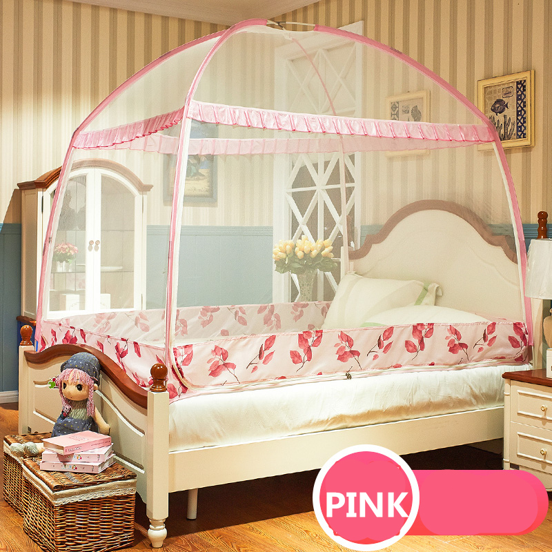 Romantic Yurt Mosquito Net Folding Mongolia Bag For Adults Double Bed Canopy Three-door Bed Tent For Princess Bed ciel de litRomantic Yurt Mosquito Net Folding Mongolia Bag For Adults Double Bed Canopy Three-door Bed Tent For Princess Bed ciel de lit