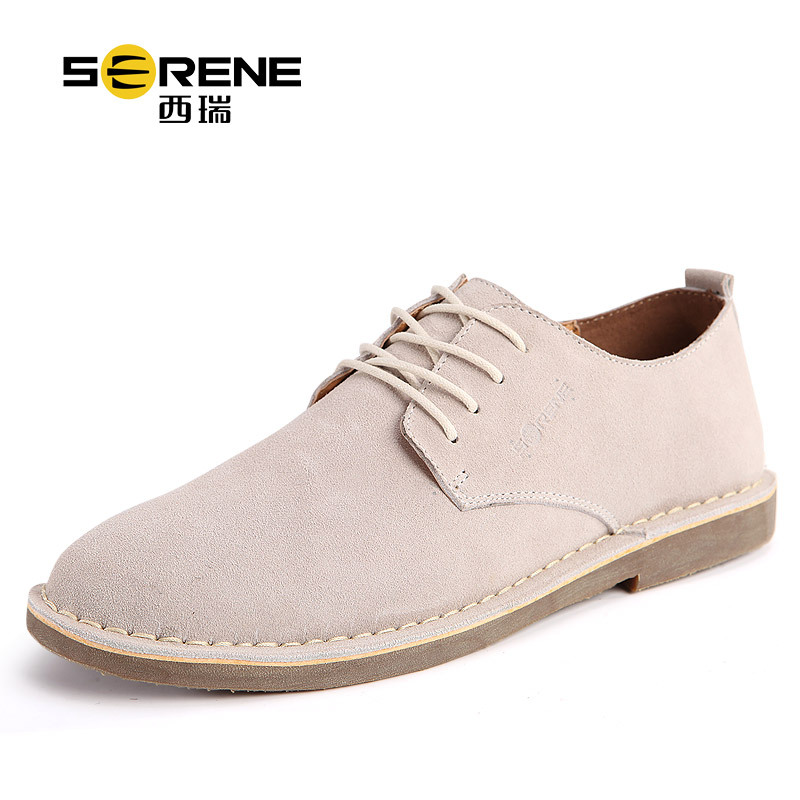 Serene Leather Walking Shoes Men Lace-up Mens Loafers Cow Suede Casual Shoes Men Luxury Chaussures Homme Zapatos Hombre Man Shoe hot men s comfortable breathable casual shoe lace up shoes sapato masculino zapatos hombre walking men trainers superstars