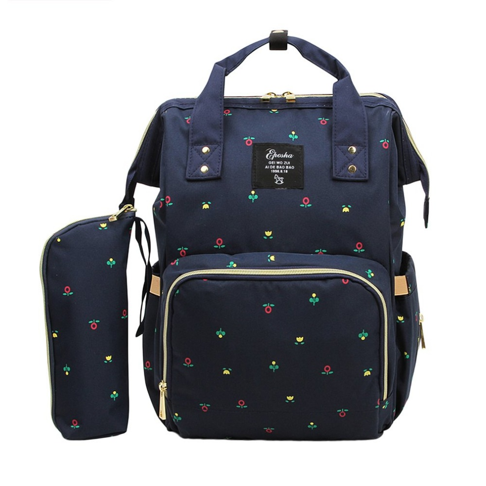 все цены на 2pcs/set Large Capacity Baby Care Multifunctional Waterproof Mommy Backpack Fashionable Design For Mommy ZX2554