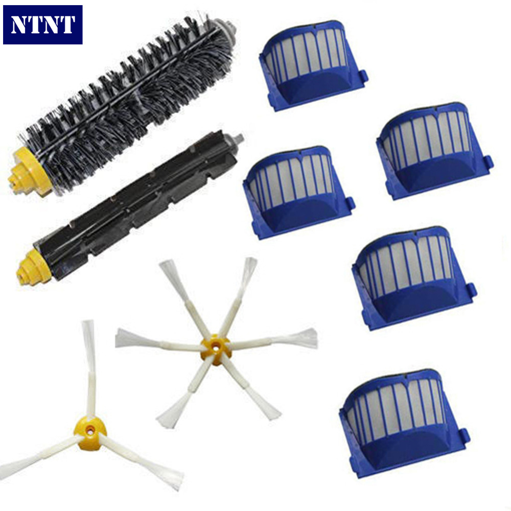 NTNT Free Post New AeroVac Filter Brush 3/6 armed for iRobot Roomba 600 Series Vacuum Part Clean ntnt free post new side brush filter 3 armed kit for irobot roomba vacuum 500 series clean tool