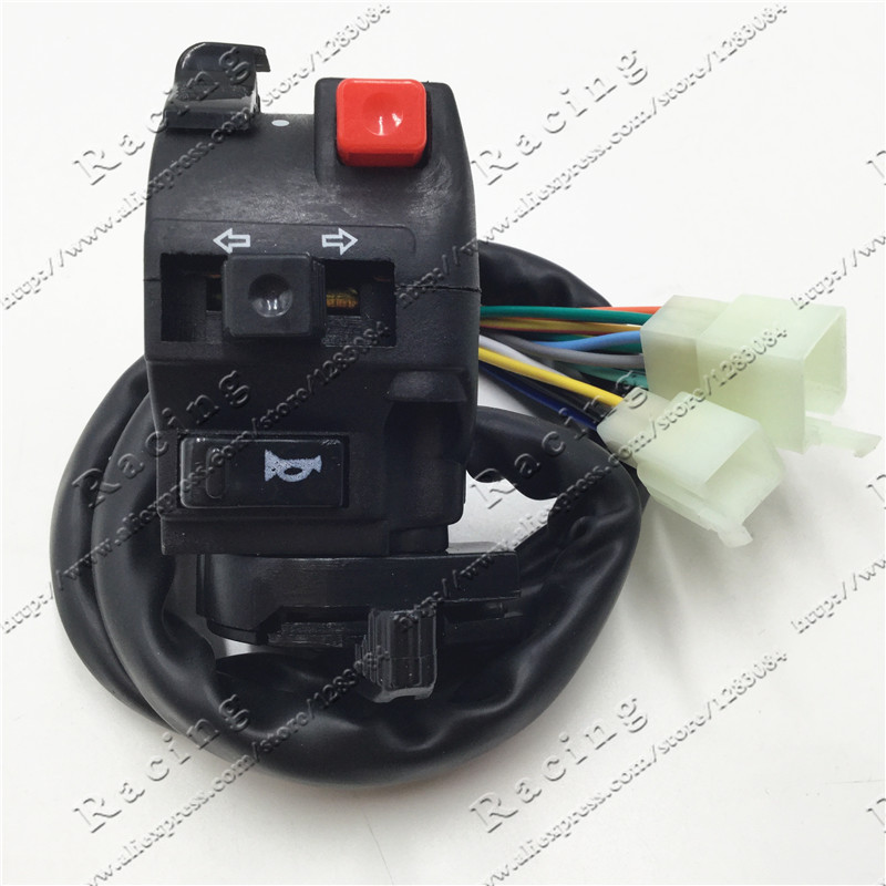 ATV Quad Switches 110-250cc four wheel  motorcycle spare parts  accessories left five-function switch Assembly Choke Button