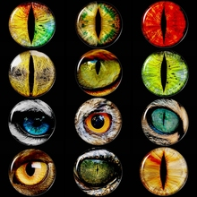 5PCS/SET Luminous Dragon Eyes 25mm Glass Cabochon Jewelry Making Glowing