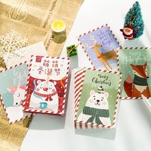 10pcs Christmas Postcards Cartoon Birthday Greeting Card Valentines Day New Year Gift Message Cards
