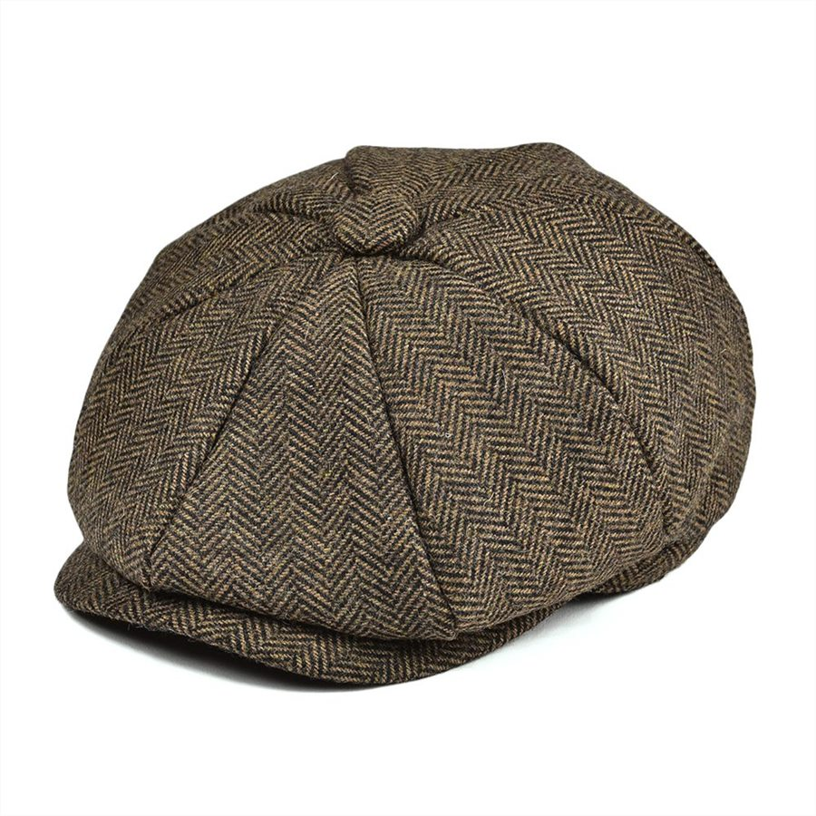 Men's Newsboy Caps Objective Jangoul Boys Newsboy Caps Small Size Kids Khaki Woolen Tweed Flat Cap Herringbone Girl Infant Toddler Child Youth Beret Hat 001 Grade Products According To Quality Men's Hats