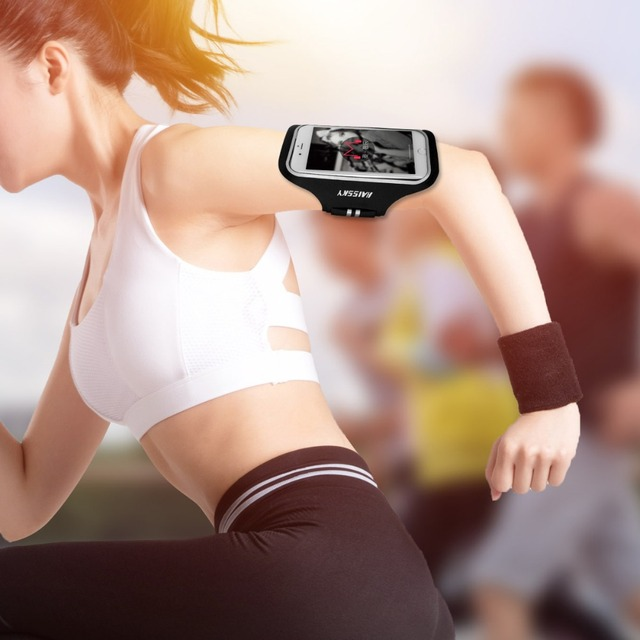 Haissky 5.2 inch Running Sports Armbands For iPhone X XS 8 7 6 6S GYM Fitness Phone Holder For Samsung S5 S6 S7 Huawei P9 P10 2