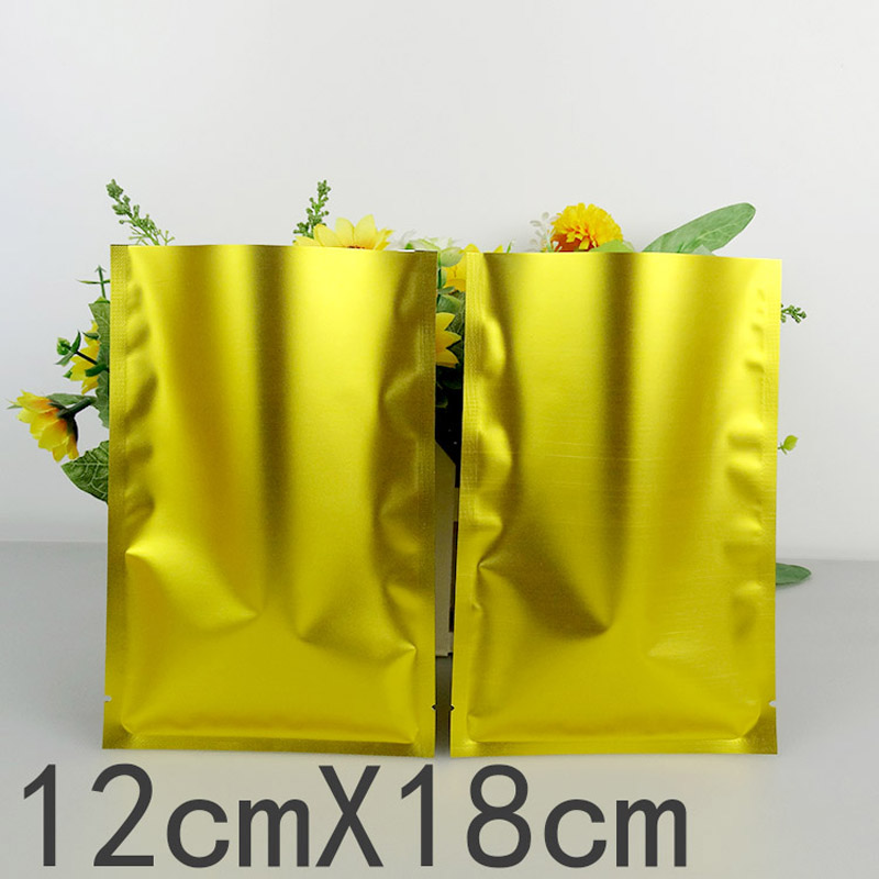 200pcs/lots 12cm*18cm* 160mic High Quality Gold Retail Bags Plastic Bag Heat Sea