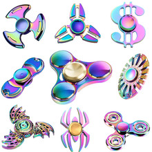 Multi styles Fidget Spinner Multicolor Rainbow Finger EDC Hand Spinner For Kids Handspinner Stress Wheel Toys