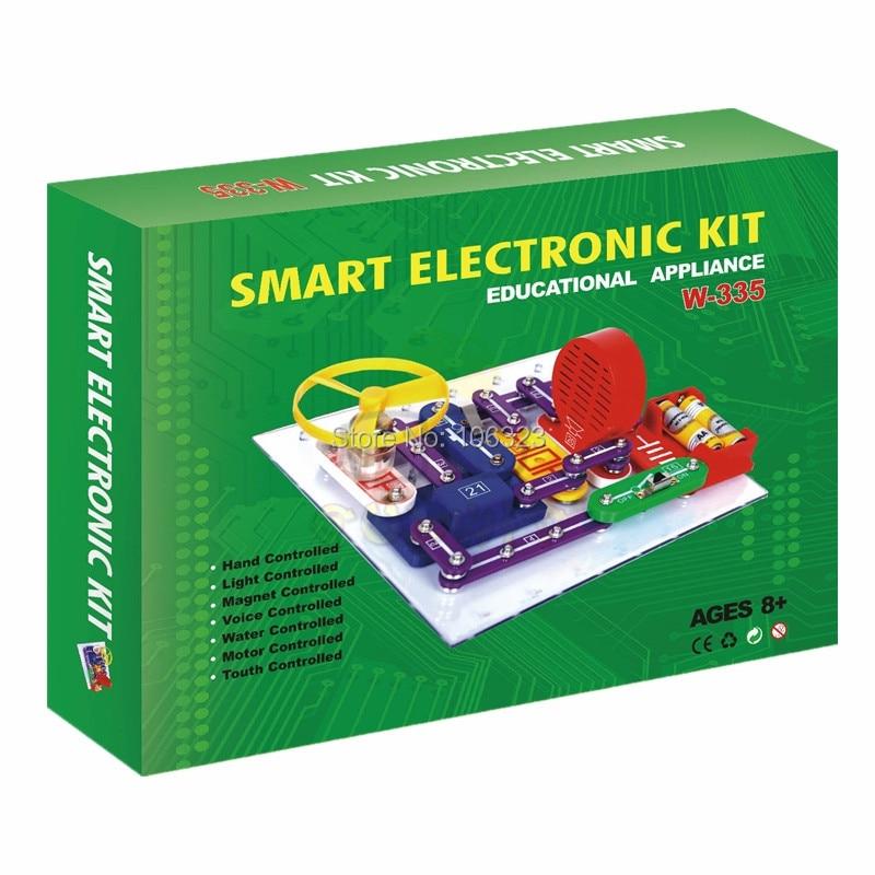 ФОТО W-335 Smart Educational Kit, Student Appliance, Building Set Blocks Toys, Child Assembling Electric Toy Bricks, Physics Learning